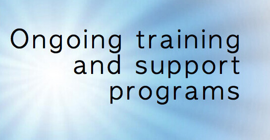 Ongoing training and support programs